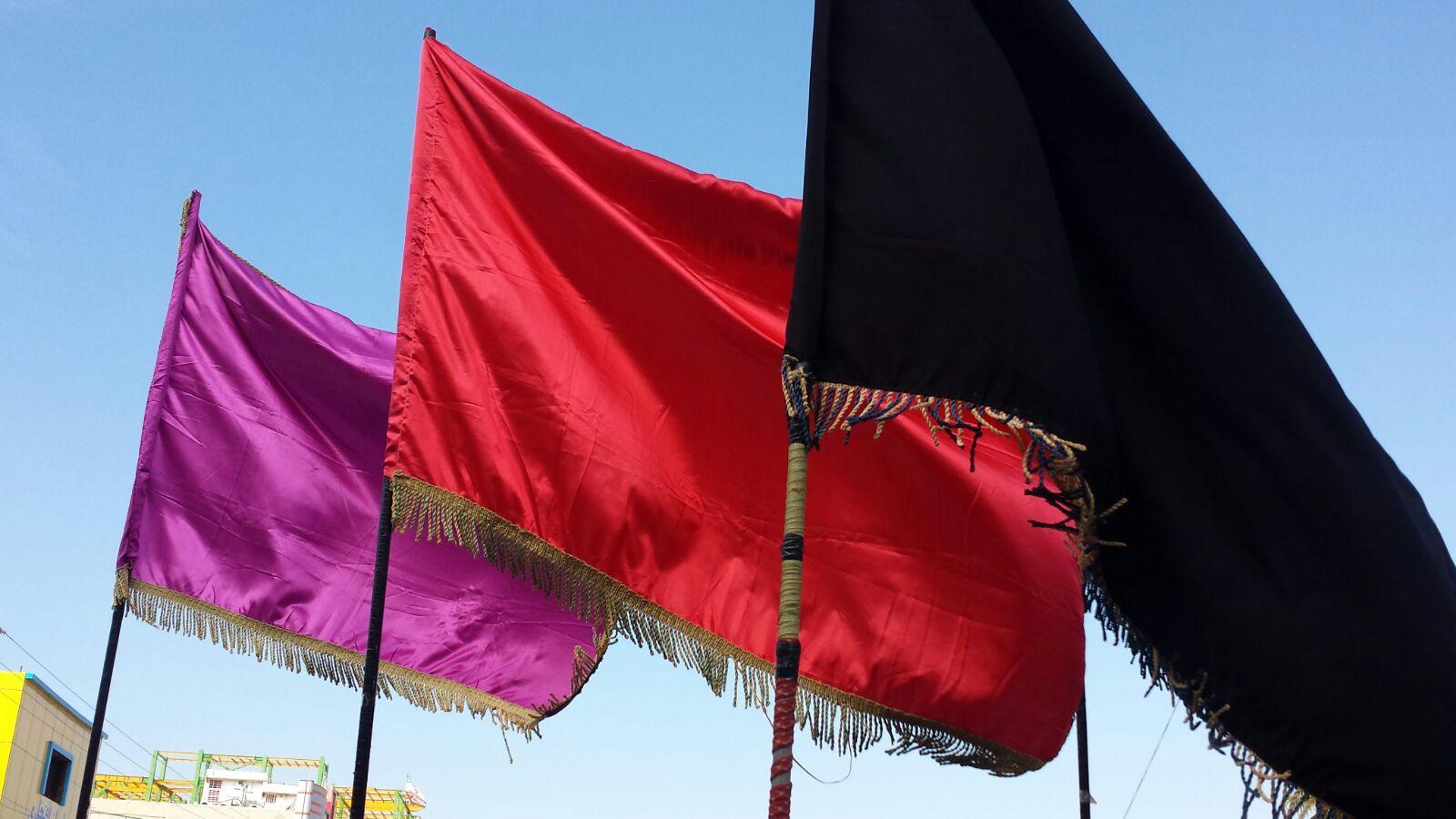 تصاویر تعویض پرچم حسینیه معتمدی
